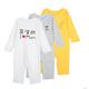 考拉工厂店 婴儿个性设计系列长袖爬服 *4件