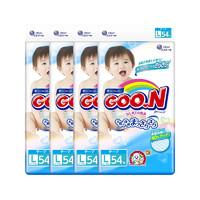 GOO.N 大王 维E系列 婴儿纸尿裤 L号 54片*4包