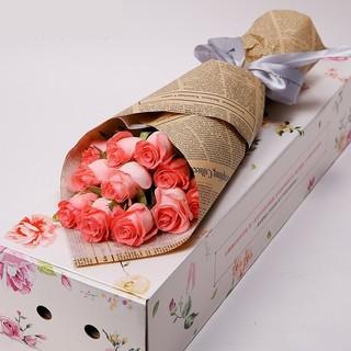 再降价 : 礼之尚 玫瑰鲜花速递 11枝