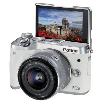 Canon 佳能 EOS M6 15-45mm 无反相机套机 白