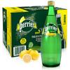 Perrier 巴黎水 气泡矿泉水 青柠味 玻璃瓶装1箱  750MLx12瓶