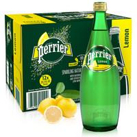 Perrier 巴黎水 气泡矿泉水 柠檬味 750ml*12瓶