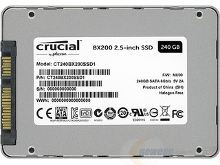 Crucial 英睿达 BX200  SATA3 240G 固态硬盘 2.5英寸