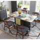 预售:林氏木业 LS059R1餐桌+ LS003CY2*4餐椅组合 一桌四椅 2480元包邮(需定金100元)