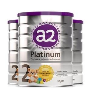 A2 Platinum 酪蛋白 婴幼儿奶粉 2段 900g *3件