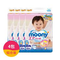 moony 尤妮佳 婴儿纸尿裤 M号 64片*4包