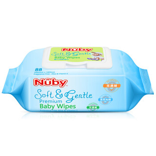 Nuby 努比 婴儿洁肤湿巾 88抽*5