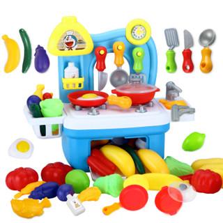 益米 哆啦A梦 过家家厨房玩具 蓝色