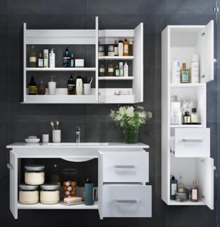 KONKA 康佳 艾斯 实木免漆浴室柜组合套装 80cm(不含侧柜)