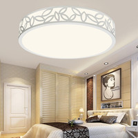 HD LED吸顶灯 卧室客厅照明灯具灯饰 现代简约 36W 三色温调光 叶影