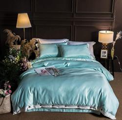 J.H.Longess AB版凉感丝麻素色喷气纯棉床单四件套 1.5米床