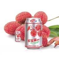 宏宝莱 荔枝味 碳酸饮料 330ml*12罐