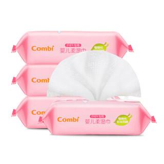 康贝(Combi)PiPi专用婴儿柔湿巾25*4包纸巾