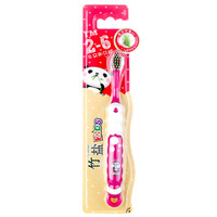 LG竹盐牙刷 2-6岁乳牙期儿童牙刷1支装 进口竹盐成分细软毛(两种颜色随机发放) *5件