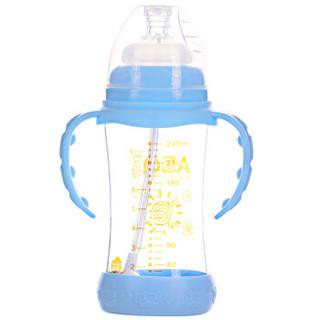 ABQ 艾贝琪 AT202-2 宽口玻璃奶瓶 240ml 蓝色