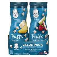 Gerber 嘉宝 婴幼儿辅食 星星泡芙 3段 草莓苹果味 香蕉味 42g 4盒装
