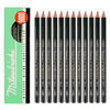 uni MITSUBISHI PENCIL 三菱 9800 铅笔 (2B、黑、12支、杉木、铅笔)
