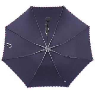 Paradise 天堂伞 包边三折晴雨伞 深藏青