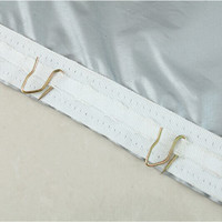 南轩阁 双面银色窗帘 1*1.4米 不含杆 送S钩
