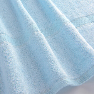 竹之锦 竹纤维浴巾 70*140cm 蓝色
