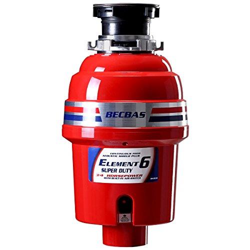 贝克巴斯中美同款E6家用厨房食物垃圾处理器水槽厨余粉碎机