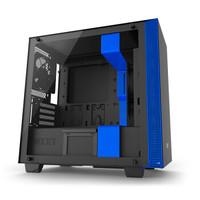 NZXT. 恩杰 H400i 黑蓝 M-ATX机箱(单侧透、智能控制、标配1把风扇)