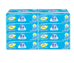 洁云 平板纸 加韧200张压花方包卫生纸 8包装 新老包装交替发货