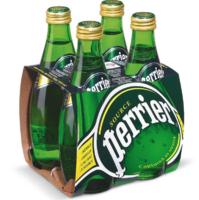 perrier 巴黎水 天然气泡矿泉水 原味 330ml*4瓶
