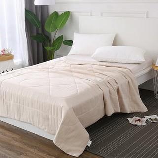历史低价 : 当当优品 全棉双层纱透气纤维空调被 150*200cm  *2件