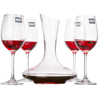 罗派红酒杯酒具套装 水晶杯*410ml*4+1000ml醒酒器