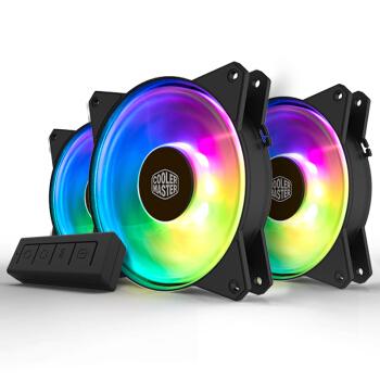 COOLERMASTER 酷冷至尊 MasterFan MF120R ADD-RGB机箱风扇(X3套装、兼容4厂主板RGB灯效)