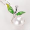 京润珍珠 秀竹 S925银镶淡水珍珠吊坠项链 165.1元