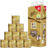 清风(APP)卷纸 原木纯品金装系列 4层140克卫生纸巾10卷(新老包装交替发货) *8件