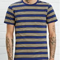 FOREVER 21 00200317 男士条纹短袖T恤