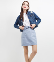 NEW LOOK 3803046 针织毛呢半身裙 蓝色 170/76A