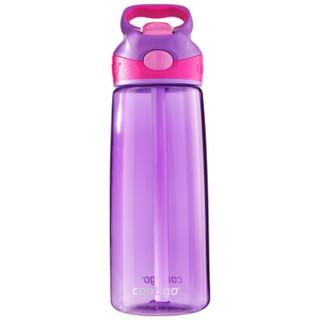 contigo塑料杯单层运动吸管杯夏季便携塑料登山水杯 560ml紫罗兰色HBC-ADN037 *3件