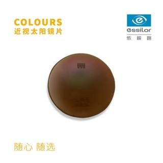 essilor 依视路 生理染色白晶镜片 折射率1.50 + 墨镜框架
