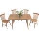 天米 TIMI 北欧白橡实木拉伸桌 可折叠桌 全实木餐桌椅