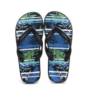 Hommy 情侣款人字拖 简约时尚休闲沙滩夹脚凉拖鞋男款 黑色42 HM3044