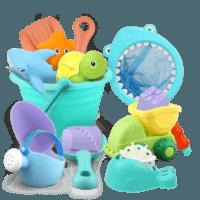 beiens 贝恩施 儿童沙滩玩具 8件套装