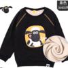 Shaun the Sheep 小羊肖恩 儿童春秋卡通卫衣 2W173303黑色加绒 140cm