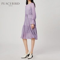 PEACEBIRD 太平鸟 A1FA83225 女士雪纺连衣裙 XL