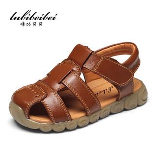 噜比贝贝 儿童皮凉鞋