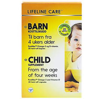 2人拼团 : Lifeline Care 俪抚 新生儿宝宝鱼油DHA 30粒