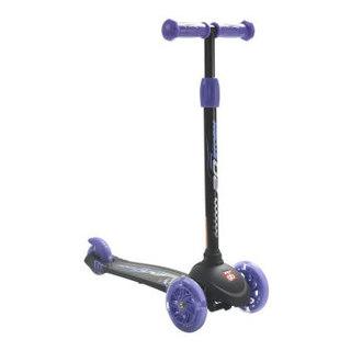 gb好孩子时尚炫酷儿童三轮滑板车可调高低 避震闪光轮滑板车 SC101-H-R005 酷炫紫