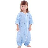 Elepbaby 象宝宝 婴儿双层纱布短袖睡袋 ( 85x38cm、蓝色)