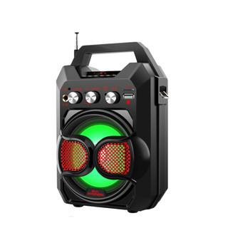 现代TR-K88大功率户外广场舞音响无线便携蓝牙音箱低音炮迷你手提拉杆音箱插卡收音机 超市收款提醒 红色