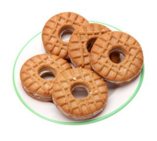 真巧 酱芯曲奇 草莓味夹心饼干 120g
