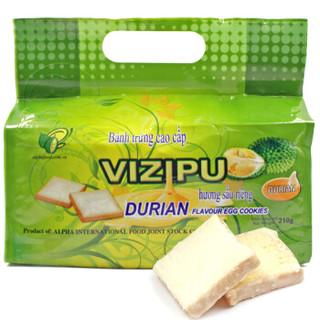 VIZIPU 味滋铺 榴莲味面包干 210g