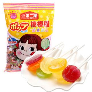 FUJIYA 不二家 棒棒糖(蜜桃味+葡萄味+哈密瓜味+香橙味)125g